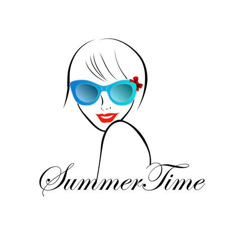 Dame avec style pour l'heure d'été