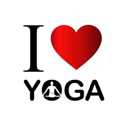 position d amour: I love yoga and meditation Illustration