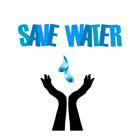 wrestle: Save water- hands saving water