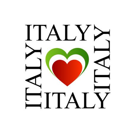 I love italy with italian flag colors