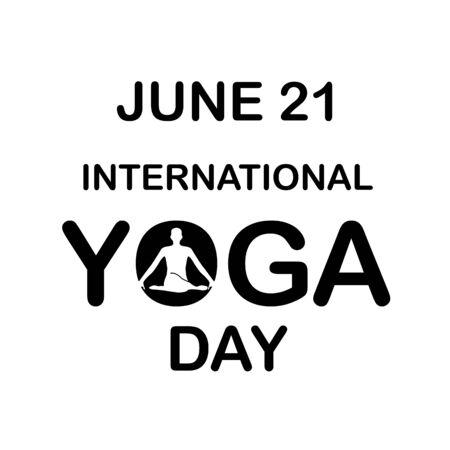 International yoga day june 21  イラスト・ベクター素材