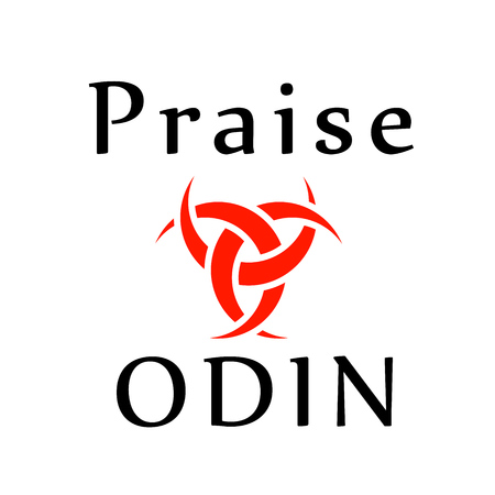 Praise Odin- The graphic is a symbol of the horns of Odin, a satanist symbol