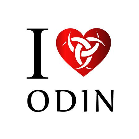 germanic: I love Odin- The graphic is a symbol of the horns of Odin, a satanist symbol