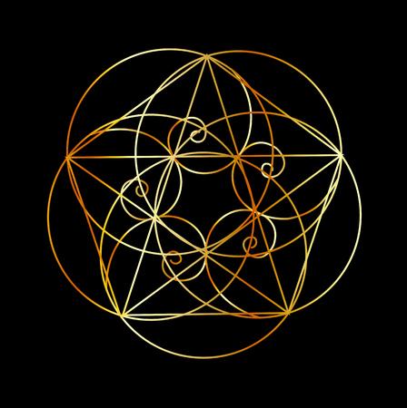 フィボナッチ・スパイラル-聖なる幾何学