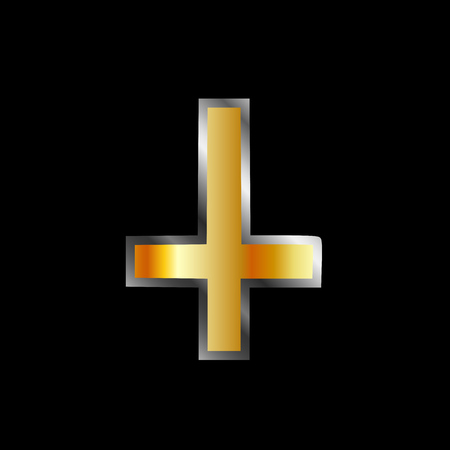 An inverted cross- The Cross of Saint Peter used as an anti-Christian and Satanist symbol
