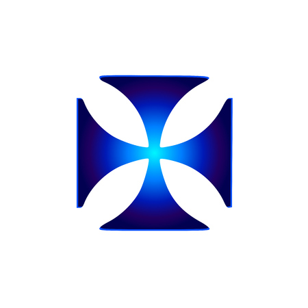 Glowing symbol Cross Pattee (Christianity) Illustration