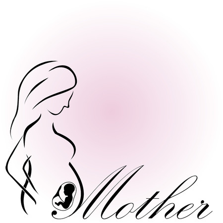 Pregnant Mother with a baby in womb- happy mothers day to the mom to be