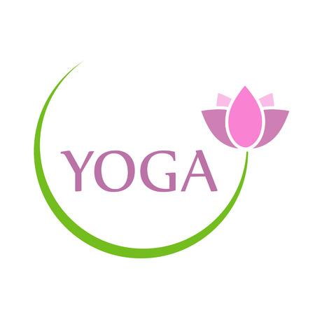Yoga and the sacred lotus Illustration
