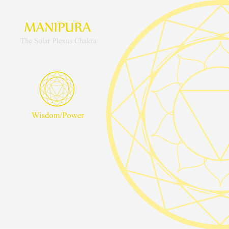 Manipura- The solar plexus chakra which stands for wisdom or power