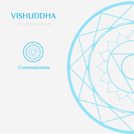 Vishuddha- The throat chakra which stands for communication. The word vishuddha means purity and purification