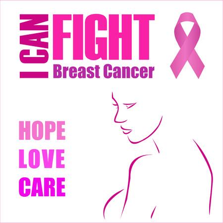 Hope, Love and Care- Poster die vrouwen in staat stelt om borstkanker te bestrijden