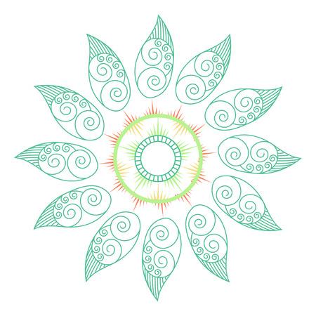 Decorative leaf Mandala