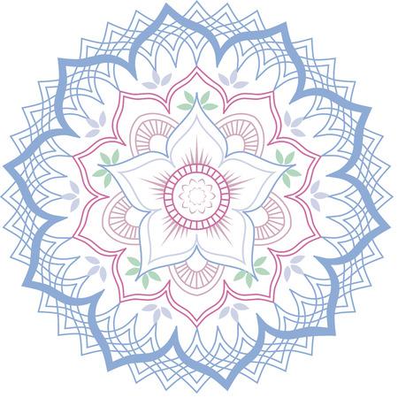 Lotus flower geometric mandala Ilustracja