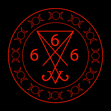 666- the number of the beast with the sigil of Lucifer symbol