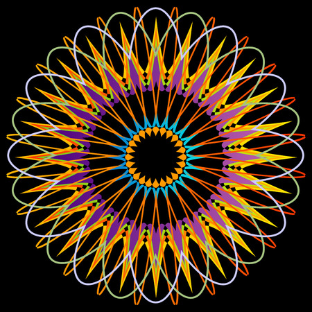 Geometric Mandala representing cosmos Illustration