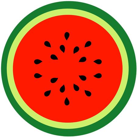 Watermelon Summer fruit Illustration