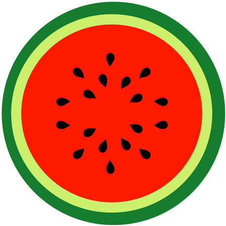 Watermelon Summer fruit 일러스트