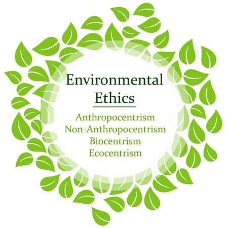 The 4 Environmental Ethics Stock Vector - 114375954