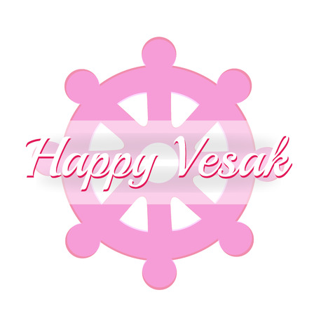 Vesak day card with 'Wheel of Dharma'