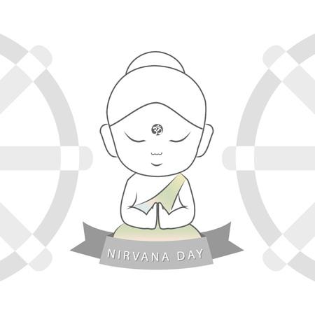 Nirvana day or Parinirvana day- February 8th Standard-Bild - 125898750
