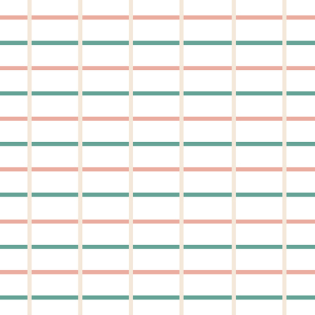 Green and soft peach line composition pattern
