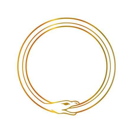 The symbol of Ouroboros snake- The self ingesting snake Reklamní fotografie - 117808789
