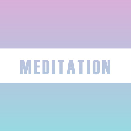 Meditation motivational typography in soft colors  イラスト・ベクター素材