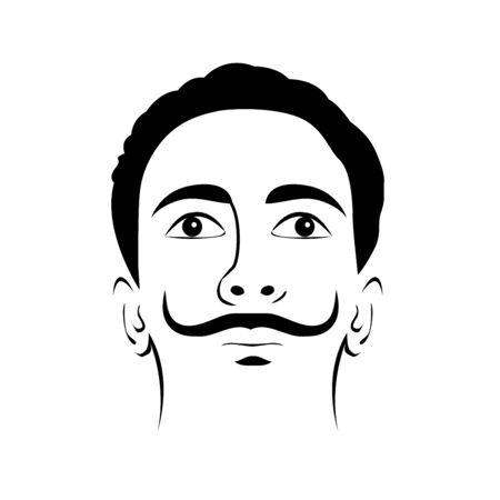 Illustration de Salvador dali dans un style abstrait Vecteurs