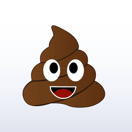 Humor shit poop emoji funny and kawaii character Illustration