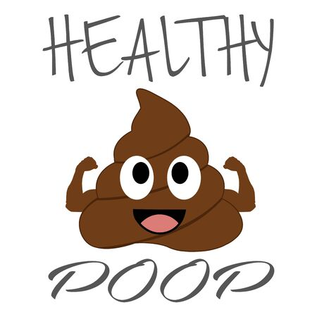 Healthy poop with flexing arm