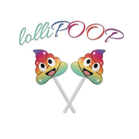 Magical unicorn lollipop in multicolor