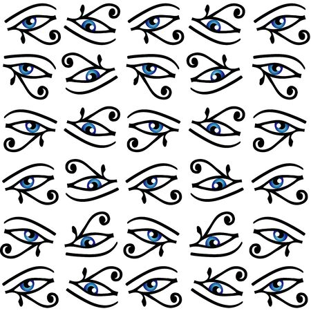 Egyptian Eye of Horus or wadjet is a symbol of royal power and protection