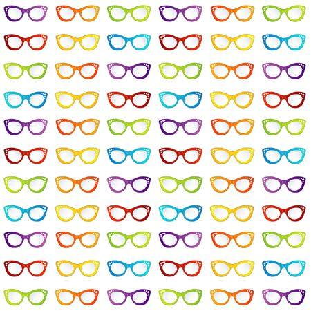 Colorful summer vintage eyewear goggles in cat eye shape