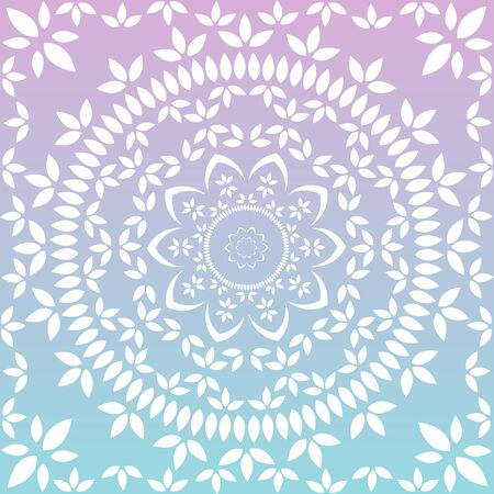 Ornamental round floral lace pattern. kaleidoscopic floral pattern, mandala Vectores