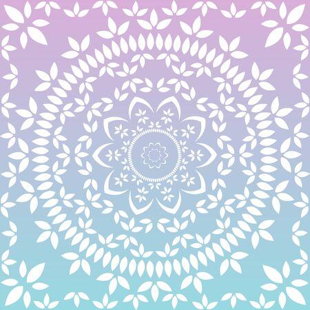 Patrón de encaje floral redondo ornamental. patrón floral caleidoscópico, mandala