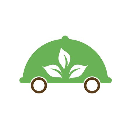 Vegetarian food delivery services logo with symbol of food safety