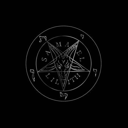 Wiccan symbol silver Sigil of Baphomet- Satanic god occult symbol