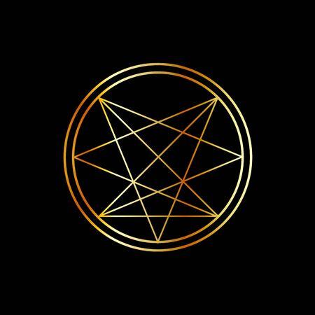 Occult symbol- Order of Nine Angles symbol in gold