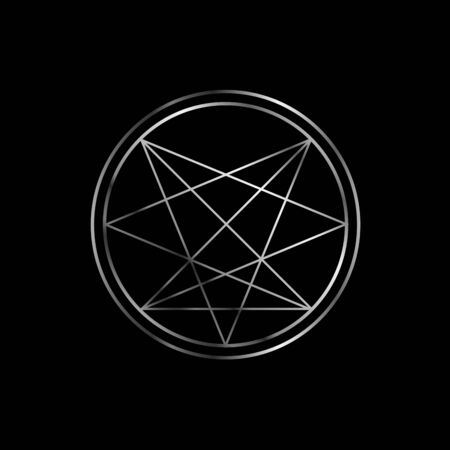 Occult symbol- Order of Nine Angles symbol in silver Ilustrace