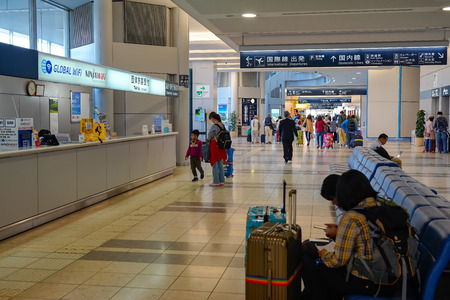 View of Sendai Airport interior. An international airport located in the city of Natori, Miyagi, Japan Redakční