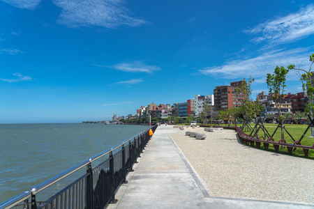 Tamsui is a sea-side district in New Taipei, Taiwan. The town is popular as a site for viewing the sun setting into the Taiwan Strait.