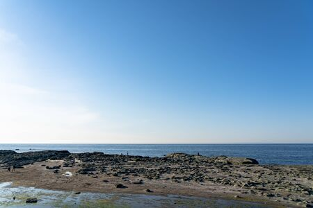 Senjojiki Rock Seaside, A Thousand Tatami Mats. Aomori prefecture, Japan. Stock Photo