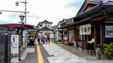 Exterior of Hiraizumi Station. A railway station on the Tohoku Main Line in the town of Hiraizumi, Iwate, Japan, operated by East Japan Railway Company ( JR East) Редакционное