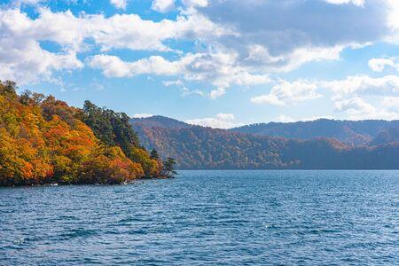 Beautiful autumn foliage scenery, Aomori, Japan 写真素材