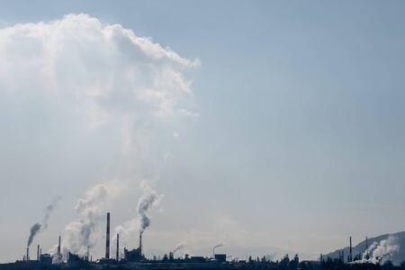 Air pollution of industry. Ecology concept. Stockfoto