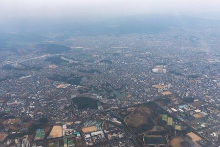 a bird's eye view of Fukuoka City, Japan