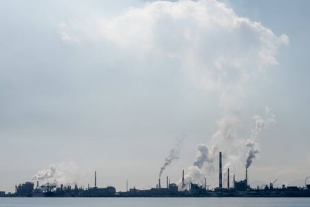Air pollution of industry. Environmental pollution. Ecology concept.