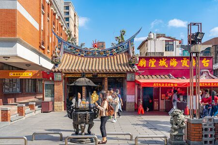 Taipei Xia-Hai City God Temple in Taipei, Taiwan. It is a renowned both at home and abroad for one of it deities, Yue Lao, who possesses power over marriage and relationship.