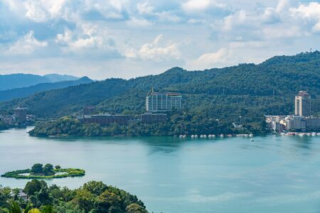 Sun Moon Lake National Scenic Area in Yuchi Township, Nantou County. The largest body of water in Taiwan