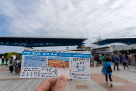West Entrance of Hitachi Seaside Park. Ibaraki Prefecture, Japan. Stock fotó - 151309017